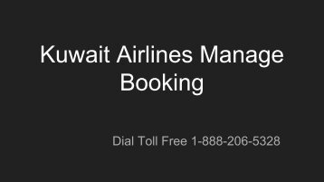 Kuwait Airlines Manage Booking
