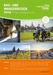 AugustusTours Katalog Rad- und Wanderreisen 2019