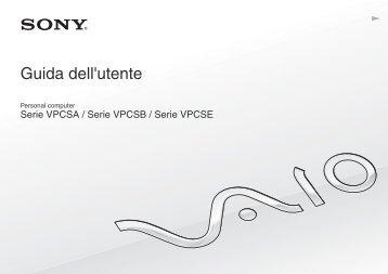 Sony VPCSA4W9E - VPCSA4W9E Mode d'emploi Italien