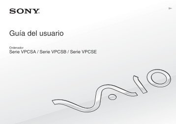 Sony VPCSA4W9E - VPCSA4W9E Mode d'emploi Espagnol