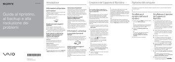 Sony VPCSA4W9E - VPCSA4W9E Guide de dépannage Italien