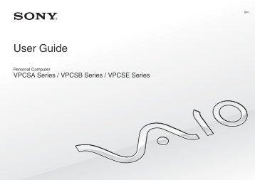 Sony VPCSA4W9E - VPCSA4W9E Mode d'emploi Anglais