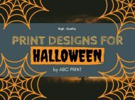 Awesome Printing Design and Services for Halloween 2018