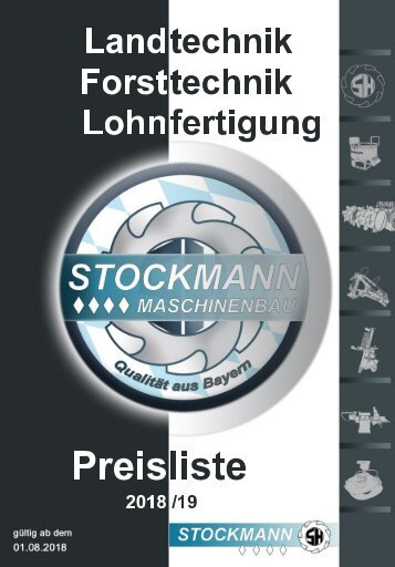 Preisliste 18-19  Stockmann Maschinenbau