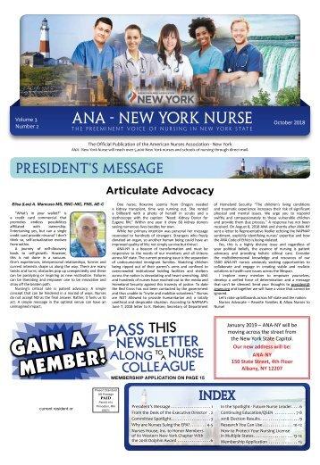 ANA New York Nurse - October 2018