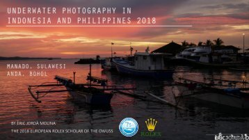UNDERWATER PHOTOGRAPHY IN INDONESIA AND PHILIPPINES 2018