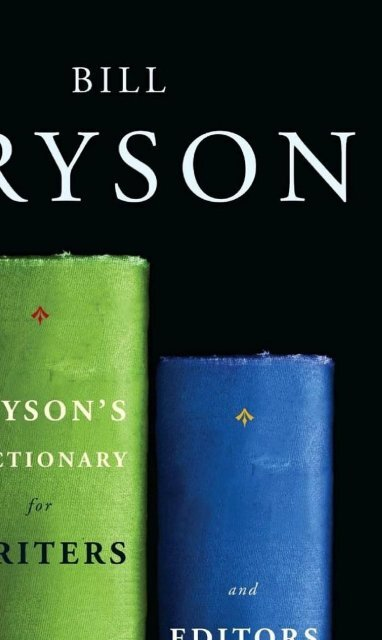 Brysons Dictionary For Writers And Editors