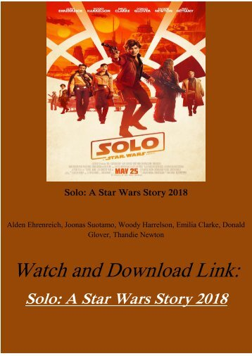 Movie Online Solo A Star Wars Story 2018 Full Download hd-bluray