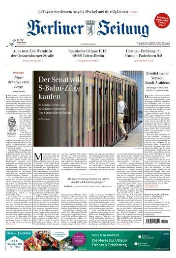 Berliner Zeitung 22.10.2018