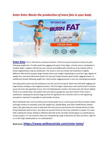 Enter Keto - Colon Cleanse Act as a Weight Loss Aid