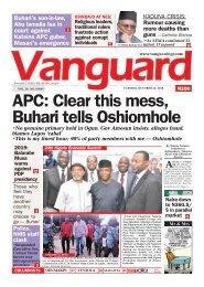 23102018 - APC Clear this mess Buhari tells Oshiomhole