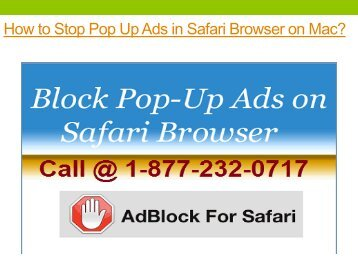 How to Stop Pop Up Ads in Safari Browser on Mac