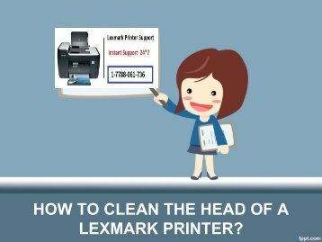 HOW TO CLEAN THE HEAD OF A LEXMARK PRINTER