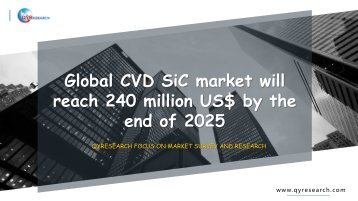 Global CVD SiC market will reach 240 million US$ by the end of 2025