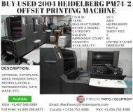 Buy Used 2004 Heidelberg PM74-2 Offset Printing Machine