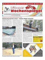 Dübener Wochenspiegel - Ausgabe 20 - Jahrgang 2018