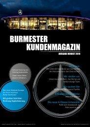 Burmester Kundenjournal | Herbst 2018