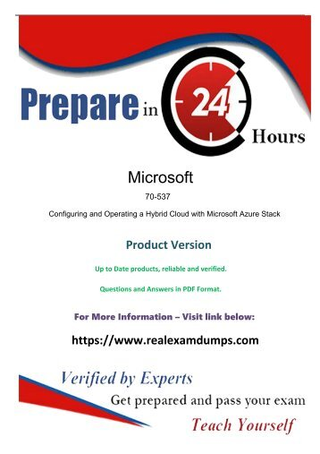 70-537  Questions And Answers - Pass Microsoft 70-537  Exam
