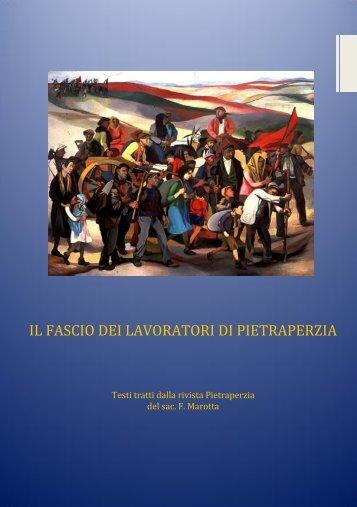 Il Fascio dei lavoratori di Pietraperzia