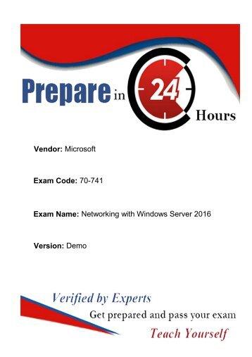 70-741  Exam Dumps - Latest [2018] Microsoft 70-741  Braindumps Question