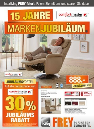 Interliving FREY - Comfortmaster Jubiläums-Prospekt