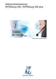 Gebrauchsanweisung INTRAsurg 300 / INTRAsurg 300 plus