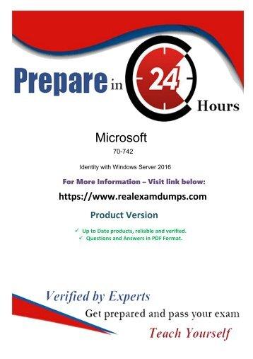 Prepare Free Microsoft 70-742 Final Exam With Realexamdumps.com