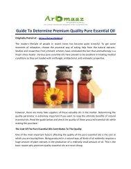 Guide To Determine Premium Quality Pure Essential Oils!