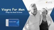 Viagra For Men- Things You Need To Know