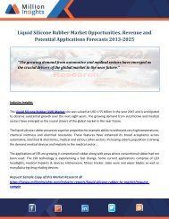 Liquid Silicone Rubber Market Opportunities, Revenue and Potential Applications Forecasts 2013-2025