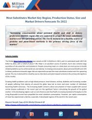 Meat Substitutes Market Key Region, Production Status, Size and Market Drivers Forecasts To 2022