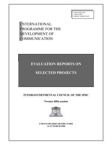 evaluation report - Unesco
