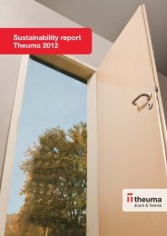 Sustainability report Theuma 2012