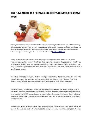 6 Healthy eating