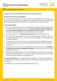 Anleitung zum Anmeldeverfahren  für Erdgasanlagen