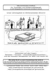 Veranstaltungen WS 12/13 Kommentare - Katholische Theologie PH ...