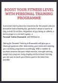 Boost Your Fitness Level with Personal Training Programme - Page 2