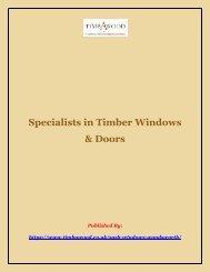 Specialists in Timber Windows & Doors