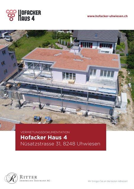 Vermietungsdokumentation Hofacker Haus 4, 8248 Uhwiesen