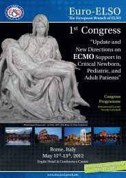 Euro-ELSO 1st Congress - Extracorporeal Life Support Organization