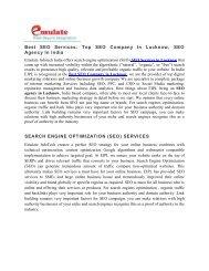 SEO Company in Lucknow, Best SEO Service Provider- Emulate Infotech Pvt. Ltd