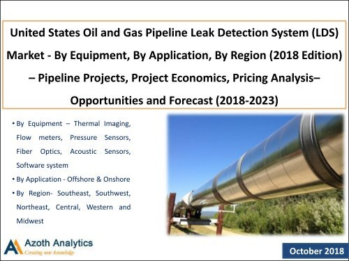 United States Oil and Gas Pipeline Leak Detection System