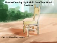 How to Cleaning Light Mold from Your Wood Furniture
