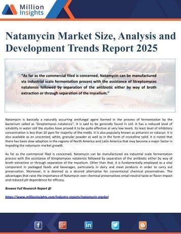 Natamycin Market Size, Analysis and Development Trends Report 2025