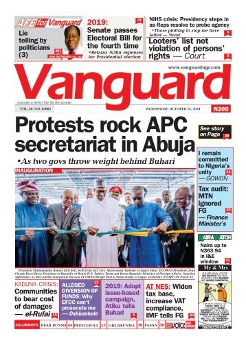 24102018 - Protests rock APC secretariat in Abuja