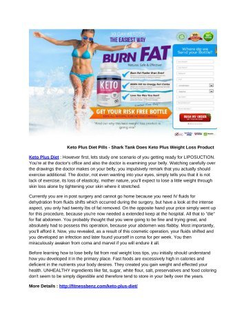Keto Plus Diet Pills - Shark Tank Does Keto Plus Weight Loss Product