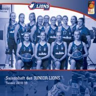 Saisonheft 2018/19 SV Halle JUNIOR-LIONS