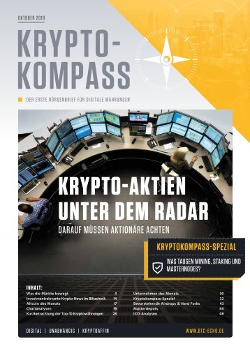 Kryptokompass Ausgabe Oktober 2018