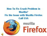 How to fix crash problem in Mozilla Firefox Browser?