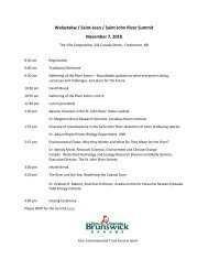 Wəlastəkw / Saint-Jean / Saint John River Summit Agenda - English